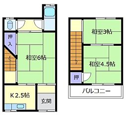 [テラスハウス] 大阪府松原市上田1丁目 の賃貸【/】の間取り