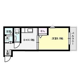 TS一号館[3階]の間取り