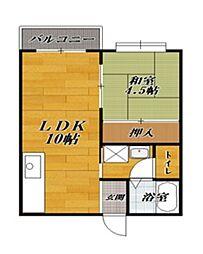 ハイムCHIE[1階]の間取り