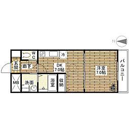 コージーコート加美[4階]の間取り