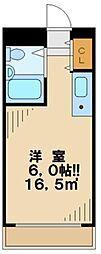 東京都多摩市一ノ宮1の賃貸マンションの間取り