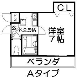 URO桜木[2階]の間取り