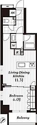 オープンレジデンシア日本橋馬喰町ステーションサイド[11階]の間取り