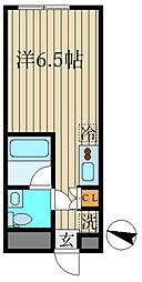 レコ桜新町 4階ワンルームの間取り