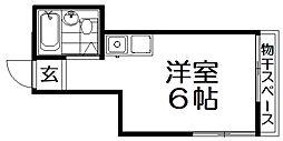 メゾン・有明 3階ワンルームの間取り