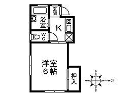 東京都小金井市貫井北町5丁目の賃貸アパートの間取り