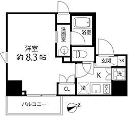 DeLCCS TOKYO BAY 7階1Kの間取り