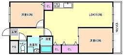 レオハイム津田2[5階]の間取り