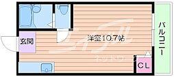 クォリティ箕面[2階]の間取り