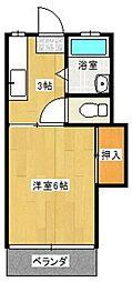 スワンハウスB棟B[106号室]の間取り