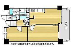 ロワールマンションアール板付弐番館[325号室]の間取り