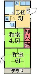 千葉県市原市若宮2丁目の賃貸アパートの間取り