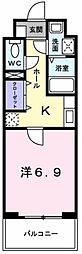 東京都立川市砂川町4丁目の賃貸マンションの間取り