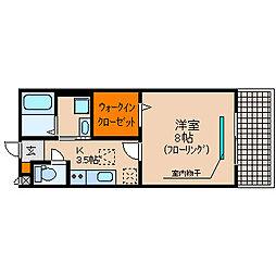 滋賀県長浜市小堀町の賃貸アパートの間取り
