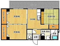 築地第一ビル[302号室]の間取り