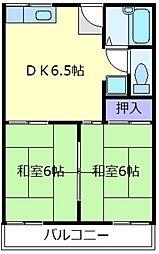 大阪府松原市新堂3丁目の賃貸アパートの間取り