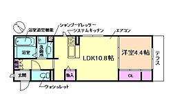 (仮称)D-room上野坂1丁目 1階1LDKの間取り