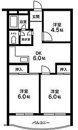 マロンパレス[1階]の間取り
