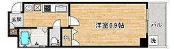 JR大阪環状線 寺田町駅 徒歩4分の賃貸マンション 5階1Kの間取り