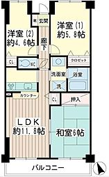 北寺尾大滝マンション[3階]の間取り