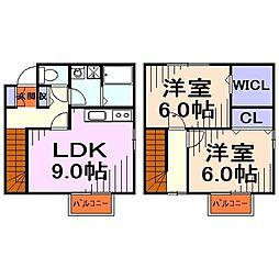 [テラスハウス] 埼玉県川口市大字差間 の賃貸【/】の間取り