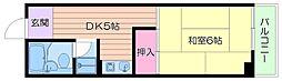 エスコート中崎[8階]の間取り