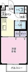 愛知県犬山市字若宮の賃貸アパートの間取り