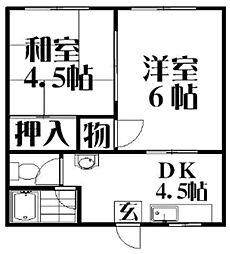 MAYUMIハイツ枚方3番館[2階]の間取り