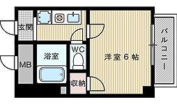 シャトレ淡路[3階]の間取り