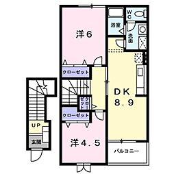 レジデンス南 II[2階]の間取り