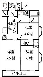 鷺沼リビング・フォー[1階]の間取り