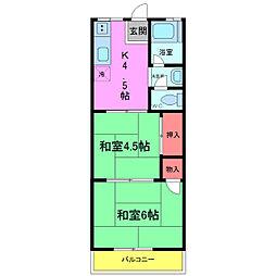 千葉県市川市湊新田の賃貸アパートの間取り