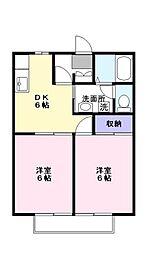 サンダイヤコーポ[2階]の間取り