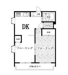 メゾンウィステリアA[2階]の間取り