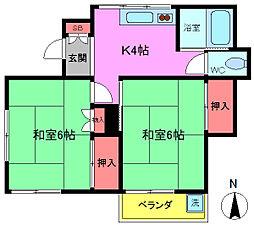 [一戸建] 千葉県市川市曽谷5丁目 の賃貸【/】の間取り