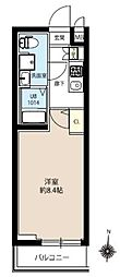 JR常磐線 亀有駅 徒歩10分の賃貸マンション 5階1Kの間取り