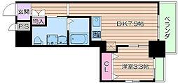 Osaka Metro御堂筋線 江坂駅 徒歩7分の賃貸マンション 3階1DKの間取り