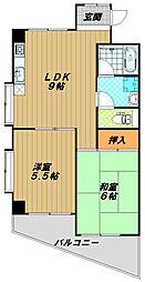 メゾン板宿[4階]の間取り