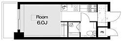 コスモ田端 8階ワンルームの間取り