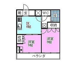 ベイステートYASUMA[905号室]の間取り