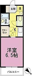 フォルトゥーナ箱崎宮前[3030号室]の間取り