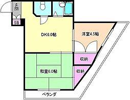 Mプラザ津田駅前弐番館[4階]の間取り