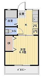 愛知県豊田市平和町3丁目の賃貸アパートの間取り