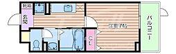 JR東海道・山陽本線 吹田駅 徒歩7分の賃貸マンション 2階1Kの間取り