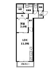 レフィーノ(REFINO) 3階1LDKの間取り