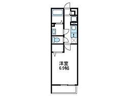 神奈川県座間市相模が丘1丁目の賃貸アパートの間取り