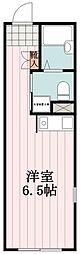 ESV 4階ワンルームの間取り