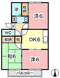 プリムローズ倉敷 A[102号室]の間取り