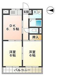愛知県豊田市挙母町3丁目の賃貸アパートの間取り