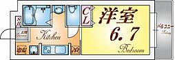 須磨南町ミオ[103号室]の間取り